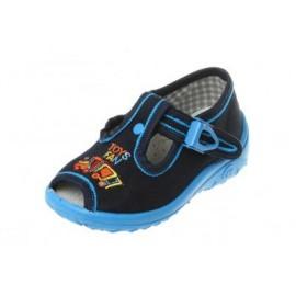 Nazo sandał , kolor niebieski , lokomotywa