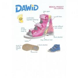 Dawid obuwie profilaktyczne , kolor granat/roz
