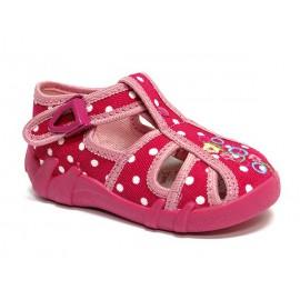 Ren But , amarant kropki, sandal